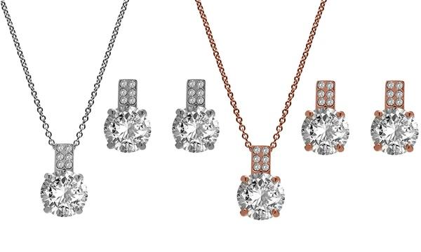 Parure de la marque The Gemseller ornée de cristaux Swarovski®