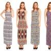 Women's Printed Racerback Maxi Dress