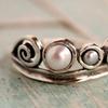 Freshwater Pearl Tiara Ring (Sizes 8 & 9)