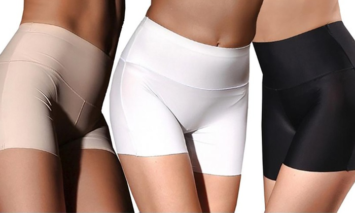 One, Two or Three Pairs of Anti-Chafing Seamless Control Pants from £5.99