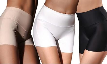 1x, 2x oder 3x nahtlose figurformende Shorts für Damen in Schwarz, Weiß und Beige und in der Größe nach Wahl