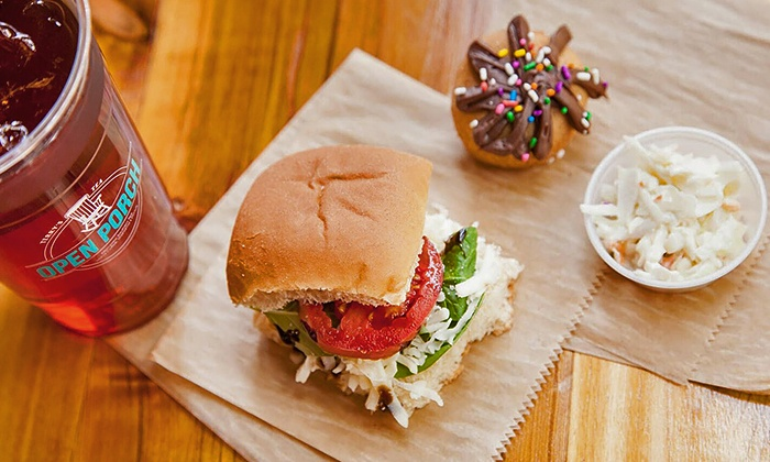 Open Porch - Multiple Locations: $9 for Three Groupons, Each Good for $5 Worth of Food and Drink at Open Porch ($15 Value)