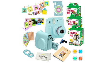Fujifilm Instax Mini 9 Instant Camera and Accessories Set (27-Piece) with 60 Film Sheets