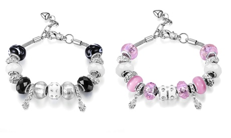 1 o 2 pulseras decoradas con cristales Swarovski® para mujer