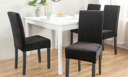 Soft and Stretchable Dining Chair Cover in Choice of Colour: One ($12), Two ($19) or Four ($29)