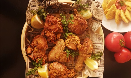Menú con entrante, principal, postre y bebida para 2 o 4 personas desde 19,99 € en Garden Fried Chicken