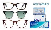 Wertgutschein über 40 €, 70 € oder 100 € anrechenbar auf Brillen, Sonnenbrillen, Linsen und Pflegemittel von netzoptiker