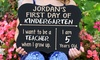 Stamp Out: One or Two Personalized First Day of School Chalkboards from Stamp Out (Up to 40% Off)