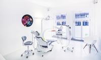 Titan-Implantat mit Vollkeramik-Zahnkrone und abdruckfreier 3D-Scan-Erstellung (bis zu 85% sparen*)