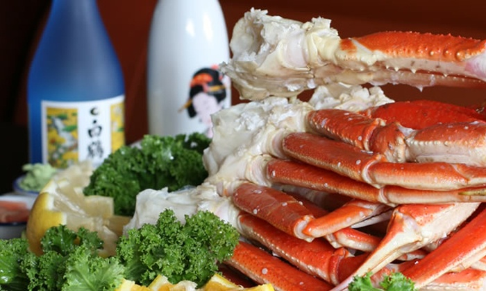 Hokkaido Seafood Buffet (Newport Beach) - Newport Beach: $29 for 2 Buffet Dinners with 2 Glasses of Wine or 22-Ounce Sapporo Beers at Hokkaido Seafood Buffet (Up to $50 Value)