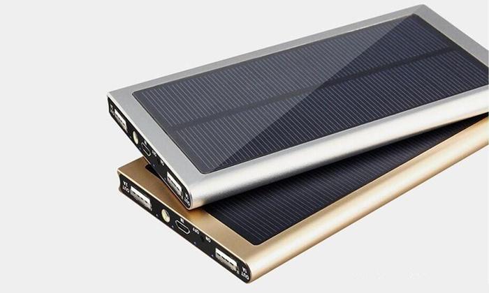 solar powerbank mit 20000 mah groupon goods. Black Bedroom Furniture Sets. Home Design Ideas