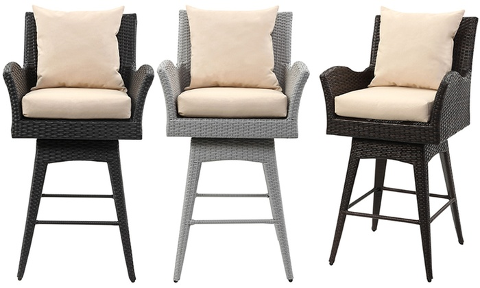Safavieh Hayes Outdoor Wicker Swivel Armed Bar Stool Safavieh Hayes Outdoor Wicker Swivel Armed Bar ...  sc 1 st  Groupon & Safavieh Wicker Swivel Bar Stool | Groupon Goods islam-shia.org