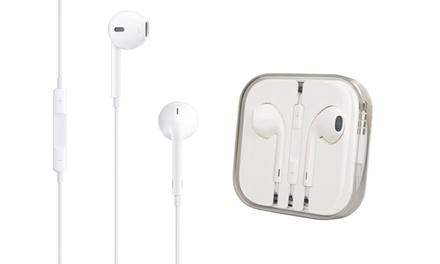 Écouteurs Apple EarPods avec télécommande compatibles iPhone 6/6S/5/5S/5C/4/4S (Réf MD827)   emballage neutre