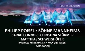 Bluetone - das Festival an der Donau: Ticket für das Bluetone Festival 2017 mit Philipp Poisel, Söhne Mannheims, Sarah Connor u. v. m. (bis zu 40% sparen)
