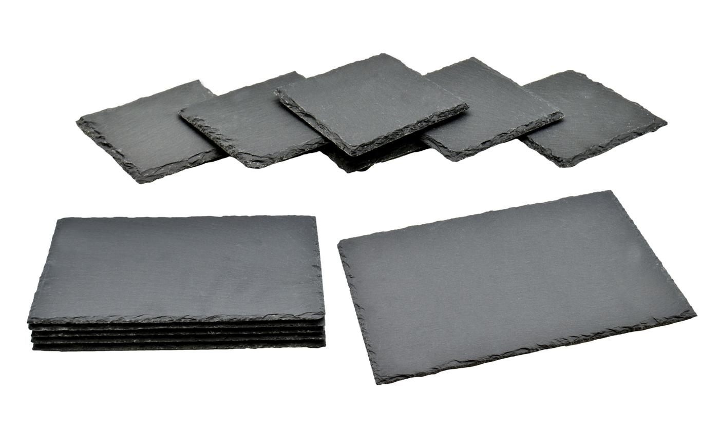 6 or 12 Argon Tableware Natural Slate Coasters or Placemats