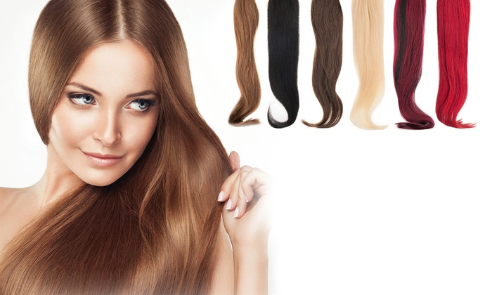 95 off on remy 22 human hair extensions groupon goods the r beauty remy 22 100 real human hair extensions the r pmusecretfo Image collections