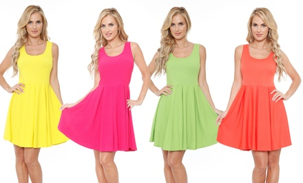 Women's Crystal Fit-and-Flare Dress