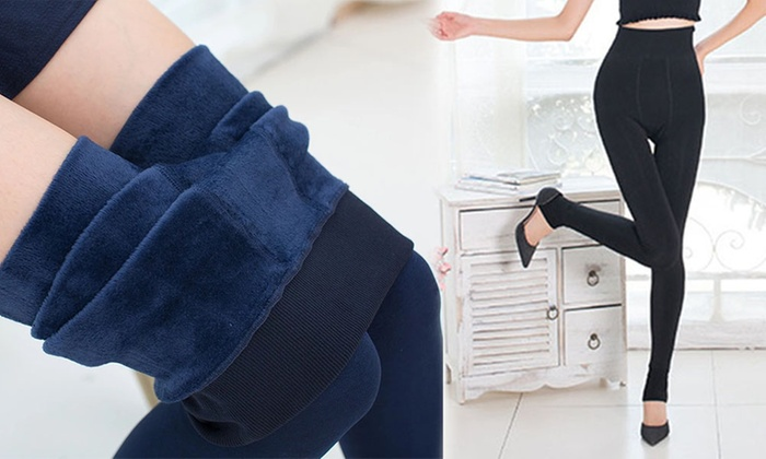 Sensual Sale: Thick Fleece-Lined Leggings: One ($19) or Two Pairs ($25)