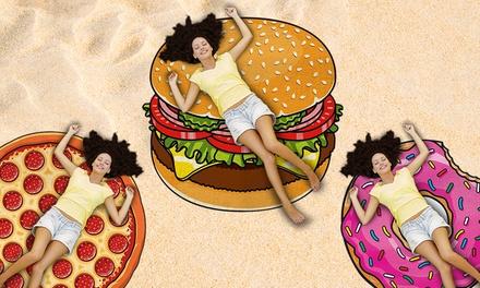 Toallas de playa en forma de hamburguesa gigante, pizza y rosquilla desde 11,99 € (hasta 66% de descuento)