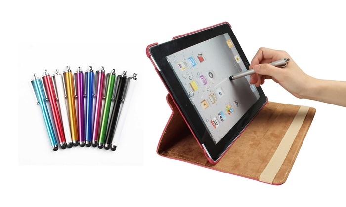 Pack of 10 or 20 GPCT Stylus Pens for Tablets and Smartphones