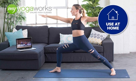 Unlimited Online Yoga: 3 ($9), 6 ($15) or 12 Months ($27) from MyYogaWorks (Up to $283.18 Value)