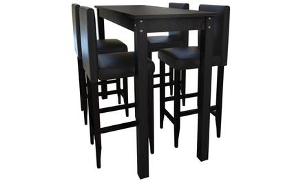 table et ou tabouret de bar groupon shopping. Black Bedroom Furniture Sets. Home Design Ideas
