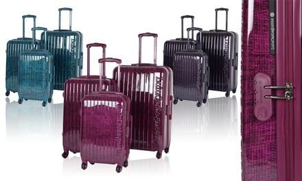 lot de 3 valises lulu castagnette groupon shopping. Black Bedroom Furniture Sets. Home Design Ideas