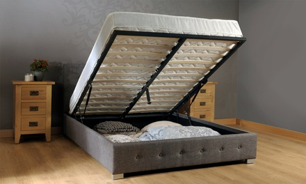 Fabric Ottoman Storage Bed Frame or Bed Frame with Mattress