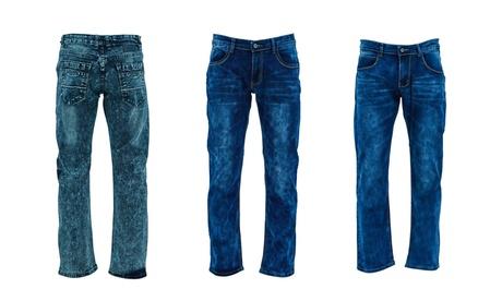 Men's Slim-Fit Stretched Denim Jeans