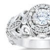 0.70 CTTW Vintage Diamond Engagement Ring in 14K White Gold