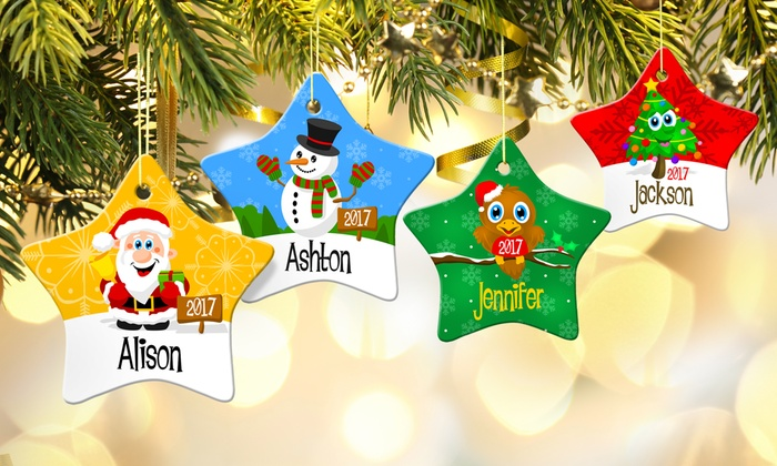 custom porcelain holiday ornaments from dinkleboo