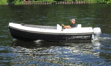 2 bis 6 Std. Motorboot-Miete ohne Führerschein für bis zu 6 Personen bei Schlossboote Köpenick