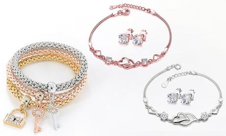 1 o 2 conjuntos de collar y pendientes Victoria's Candy decorados con cristales de Swarovski®