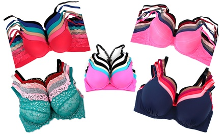 Mystery Bra Deal in Regular and Plus Sizes (6-Pk.)