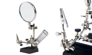 "Stalwart 2x Helping Hand 3.5"" Magnifier Glass with Stand"