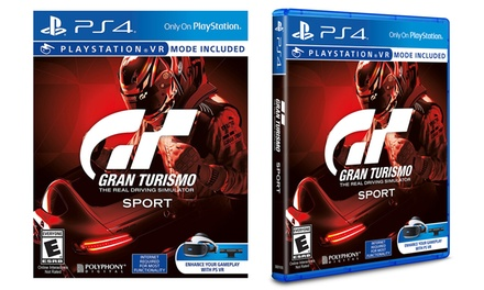 gran turismo sport for playstation 4 groupon. Black Bedroom Furniture Sets. Home Design Ideas