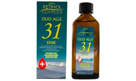 Hasta 3 aceites de hierbas Retinol Complex 31, para aliviar el resfriado y el dolor de cabeza, sin parabenos