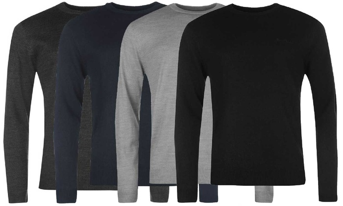 One or Two Pierre Cardin Crew Neck Knitted Jumpers from £13