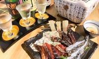 極上の日本酒を炙りともに。プレミアムプランも選べる≪伏水酒蔵小路限定酒3種利き酒セット+炙り五種盛り / 他≫ @伏水酒蔵小路内 酒蔵