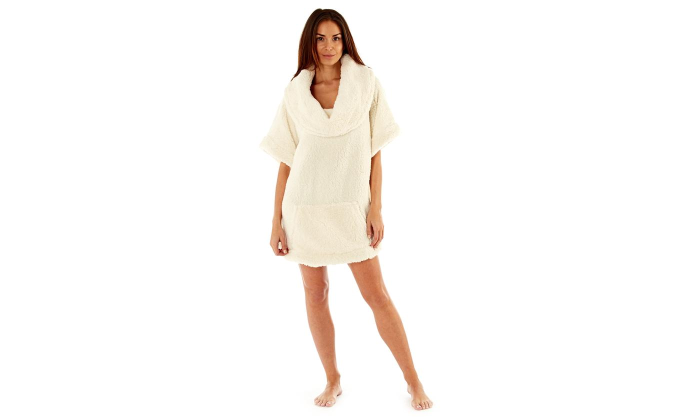 Women's Snuggle Fleece Sherpa Poncho