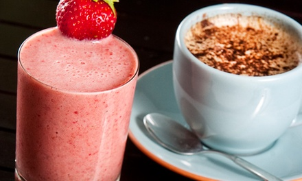 $14 for a Punch Card Good for Four Espresso Drinks or All-Natural Smoothies at Ollin Cafe ($24 Value)