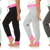 Coco Pink Girls' Assorted Soft Jogger Pants (5-Pack)