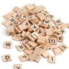 100 Holz-Scrabble-Buchstaben