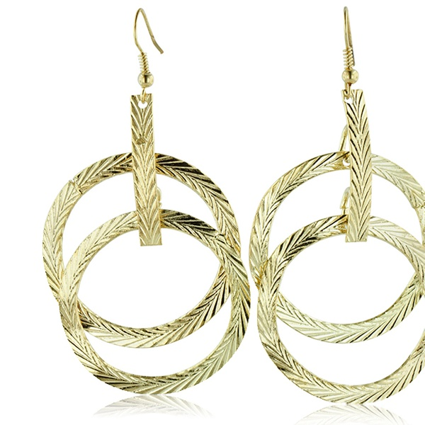 b91643c026ddb Textured Multi-Hoop Dangle Drop Earrings