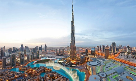 Dubai: 1 or 2 Nights for 2 Adults and 1 Child with Breakfast and Entertainment Options at 4* Emirates Grand Hotel