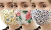 Flower Print Cotton Face Mask
