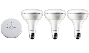 Philips Hue White and Color Set (3-Piece). Manufacture Refurbished.