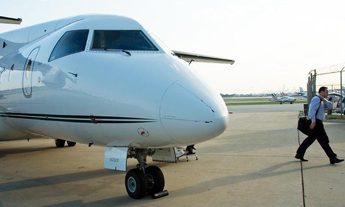 Ultimate Air Shuttle - Cincinnati/NKY Airport (CVG): Round-Trip Charter Flight to New York/Morristown or Chicago from Ultimate Air Shuttle (Up to 31% Off)