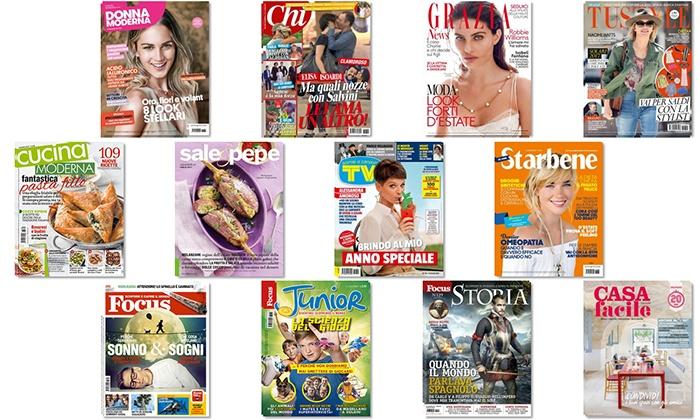 Abbonamenti digitali Mondadori: Donna Moderna, Chi, Focus, e altre..La tua rivista sempre con te su tablet e smartphone