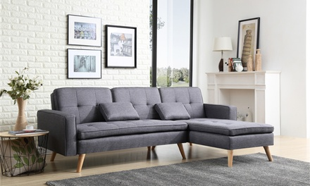Canap d t convertible scandinave avec ses coussins for Canape helly